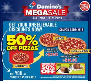 50% Off Domino's Voucher Code