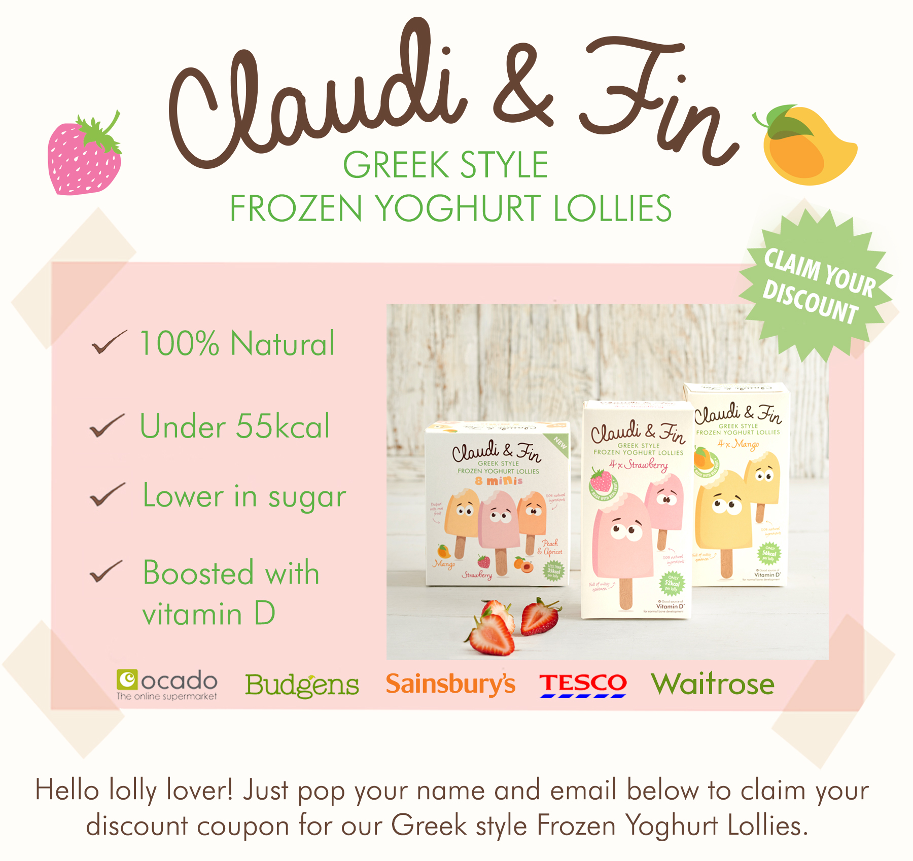 Coupon - Claudi & Fin Greek Style Yoghurt Lollies!