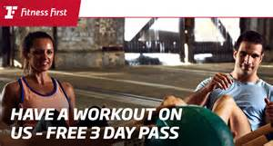 Free Fitness First 3 Day Pass
