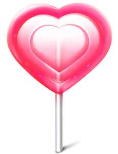 Free Heart Chocolate Lollipops
