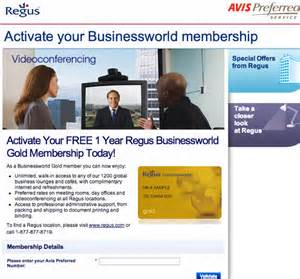 Free Regus Gold Card Membership