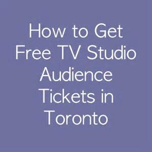 Free TV And Radio Audience Tickets