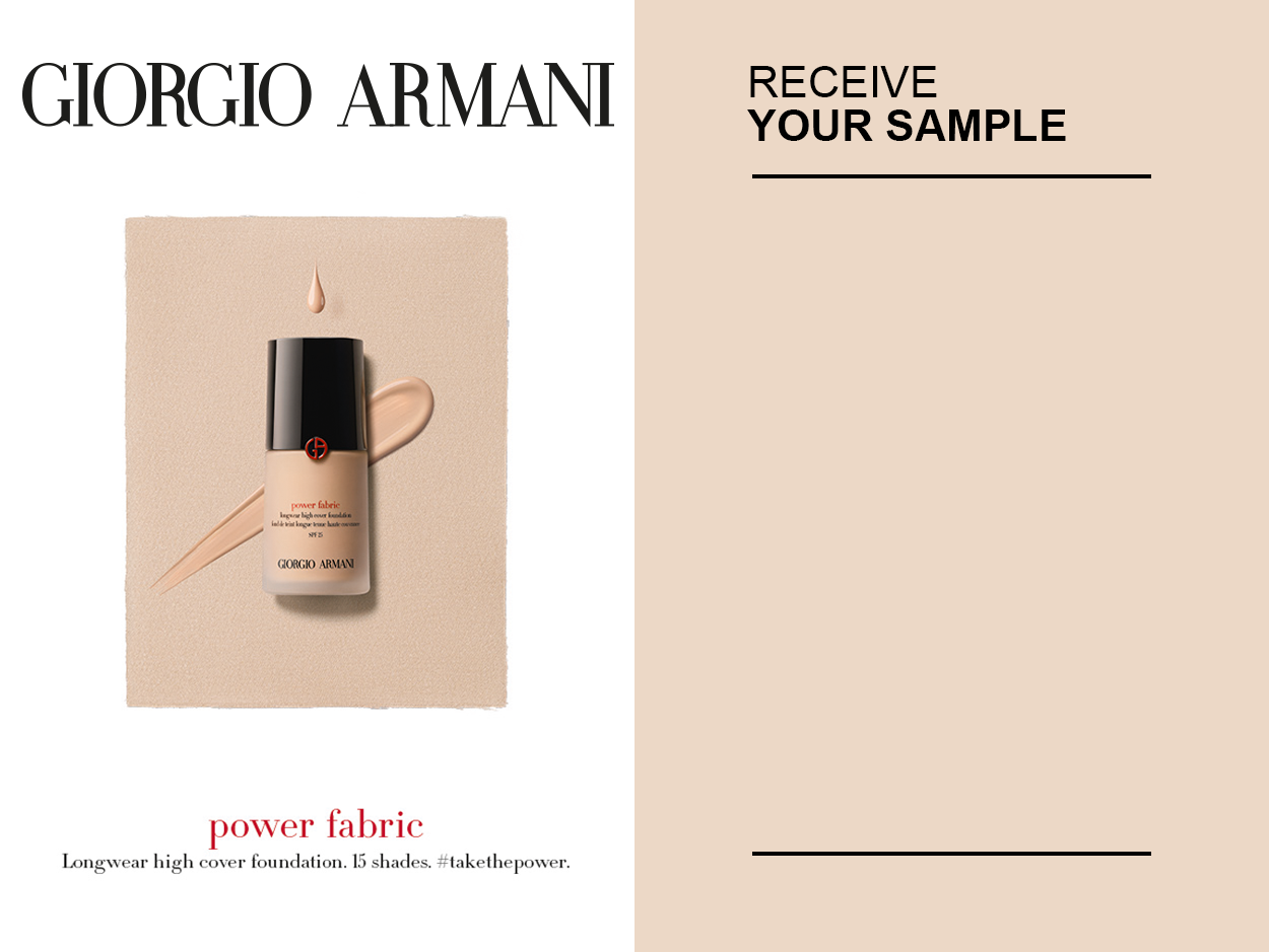 Giorgio Armani Free Sample Power Fabric